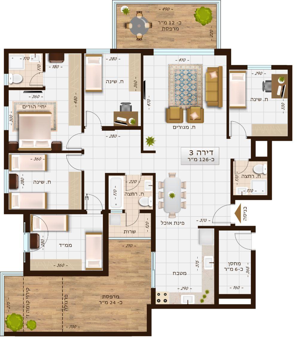 בניין 1107 דירה 3